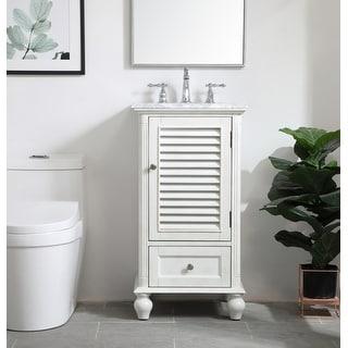 Link to Rockland Coastal Bathroom Vanity Cabinet Set with Marble Top Similar Items in Bathroom Furniture