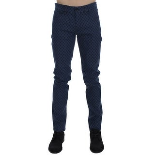 Dolce & Gabbana Dolce & Gabbana Blue Cotton Stretch Slim Fit Pants