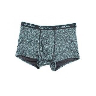 Calvin Klein NEW Blue Teal Black Logo Mens Medium M Boxer Brief Underwear