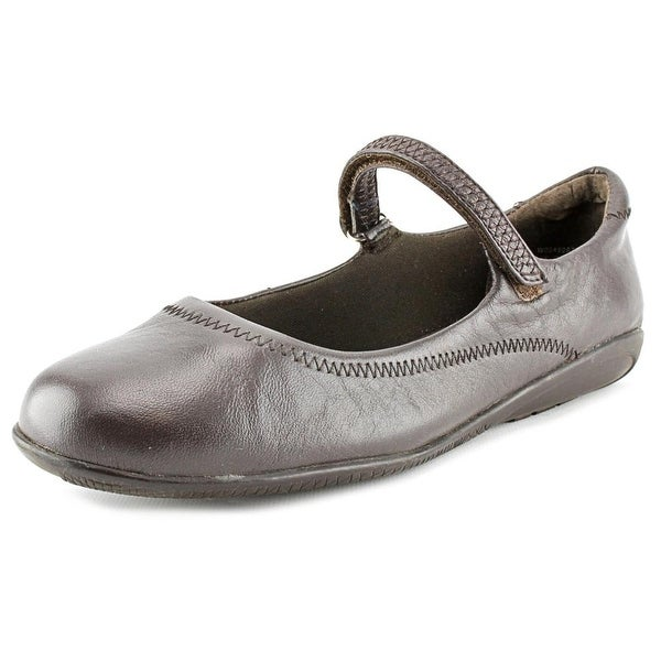 Walking Cradles Jane Women N/S Round Toe Leather Brown Mary Janes