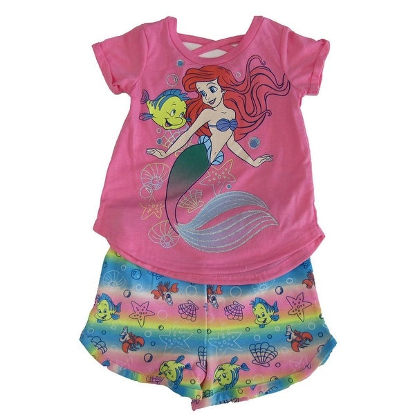 6c77be50f Shop Disney Little Girls Pink Ariel Little Mermaid T-Shirt 2 Pc Shorts  Outfit - Free Shipping On Orders Over $45 - Overstock - 27993655