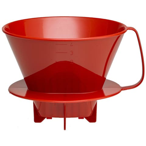 Harold Import 2664RD Coffee Filter Cone, Red