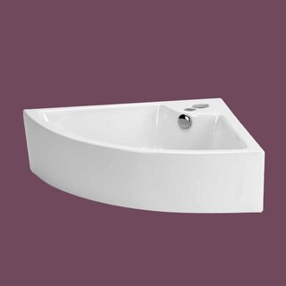 Small Bathroom Corner Sink Above Counter Vessel Faucet Hole | Renovator's Supply