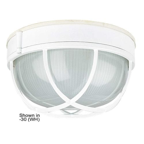 "Sunset Lighting F7987 1 Light Outdoor Cast Aluminum 10"" Wide Flush Mount Ceiling Fixture"