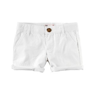 Carter's Big Girls' Twill Roll-Cuff Shorts, 7 Kids