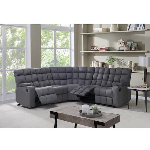 Copper Grove Beilefeld 5 Seat Recliner Sectional with Wedge