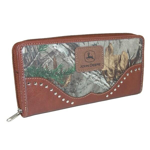 John Deere Women's Camouflage Zip-Around Wallet - One size