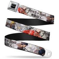 Attack On Titan Logo Full Color Black White Red Attack On Titan Trainees Seatbelt Belt