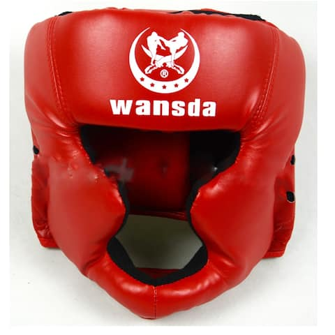 Close Boxing Head Protector Free Combat Helmet MMA UFC Muay Fight Protector - Red - 1