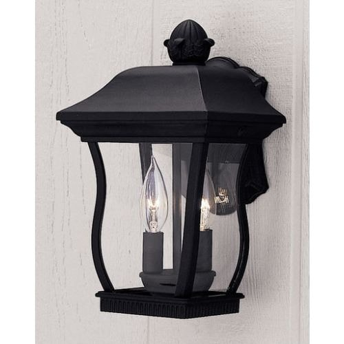 """Designers Fountain 2712-BK 2 Light 8.25"""" Cast Aluminum Cast Wall Lantern from the Chelsea Collection"""