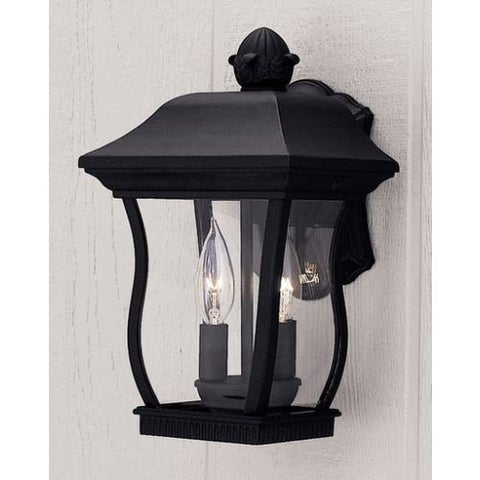 "Designers Fountain 2712-BK 2 Light 8.25"" Cast Aluminum Cast Wall Lantern from the Chelsea Collection"