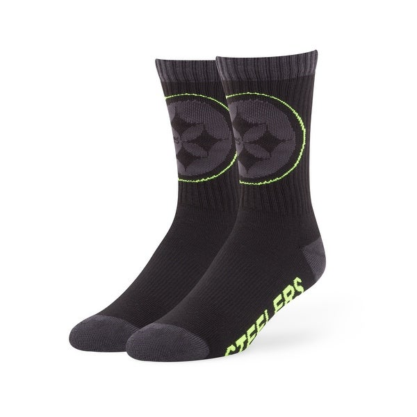 Pittsburgh Steelers Black Warrant Socks
