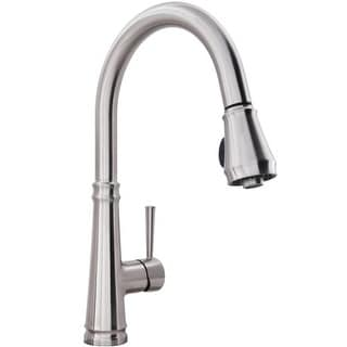Miseno MK331 Lovato Pullout Spray High-Arc Kitchen Faucet - Includes Escutcheon Plate