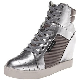 United Nude Womens Play Leather Covered Wedge Fashion Sneakers - 40 medium(b,m)