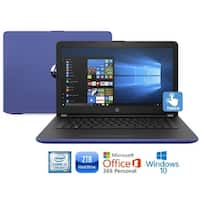 "HP 15-bs010cy Core i3-7100 2TB HDD 15.6"" HD Touch Screen Laptop with Office 365 - Blue"