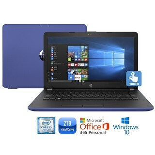 "HP 17-bs010cy Core i3-7100 2TB HDD 17.3"" HD+ Touch Screen MS Office 365 Laptop - Blue"