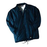 Dickies Men's Snap Front Nylon Jacket Dark Navy