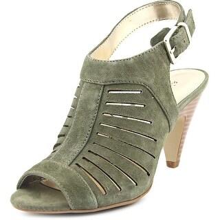 Alfani Primere Women Open-Toe Suede Green Slingback Heel