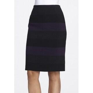 Tahari By ASL NEW Black Women's Size 2P Petite Straight Pencil Skirt