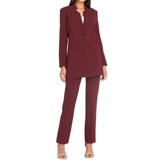 Tahari by ASL Red Women's Size 2 Double Star Neck Pant Suit