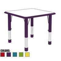 2xhome Adjustable Height Kids Table For Toddler Child Children Preschool Daycare School Wood Activity Chrome Kid Home Purple