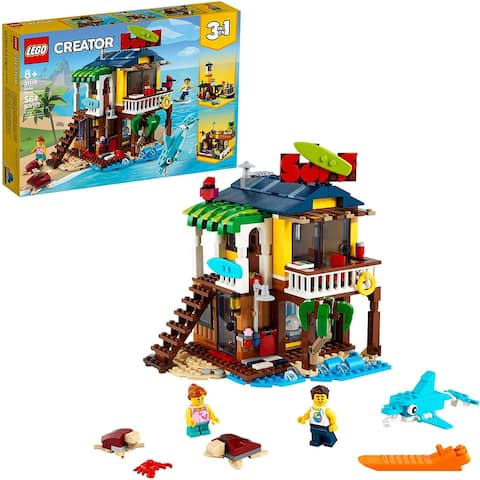 Lego 31118 Creator 3in1 Surfer Beach House Building Kit, 564 Pieces