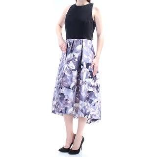 SLNY $119 Womens 1102 Purple Crew Neck Sleeveless Fit + Flare Prom Dress 10 B+B