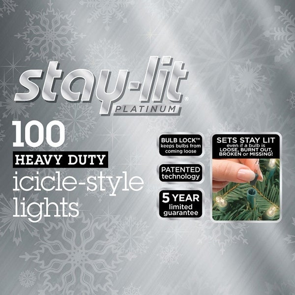 Commercial Grade Outdoor Icicle Lights: Shop Celebrations 44805-71 Staylit Mini Clear Commercial