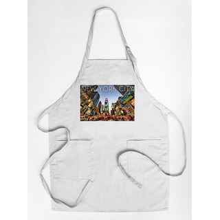 New York City, New York - Times Square - Lantern Press Photography (Cotton/Polyester Chef's Apron)