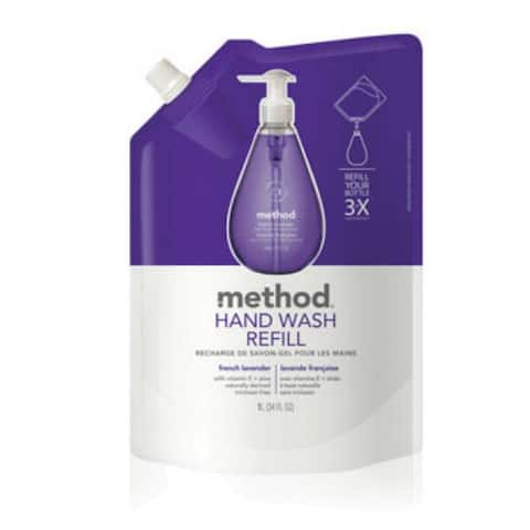 Method 00654 French Lavender Gel Hand Wash Refill, 34 oz