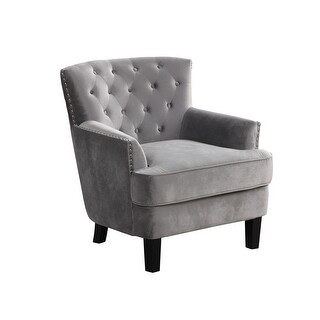 Link to Best Master Furniture Soft Velvet Upholstered Living Room Arm Chair Similar Items in Accent Chairs