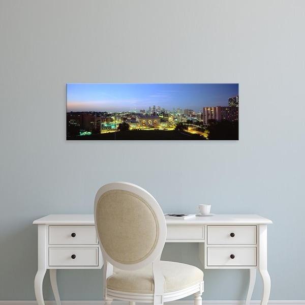 Easy Art Prints Panoramic Image 'High Angle View Of A City Lit Up At Dusk, Kansas City, Missouri, USA' Canvas Art