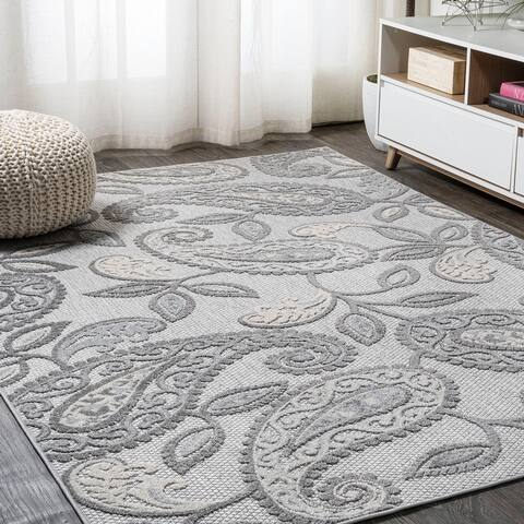 JONATHAN Y Julien Paisley High-Low Indoor/Outdoor Area Rug