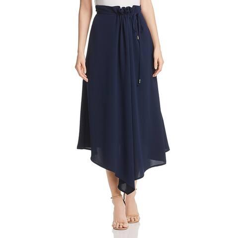 Donna Karan Womens Midi Skirt Asymmetric Tie Closure