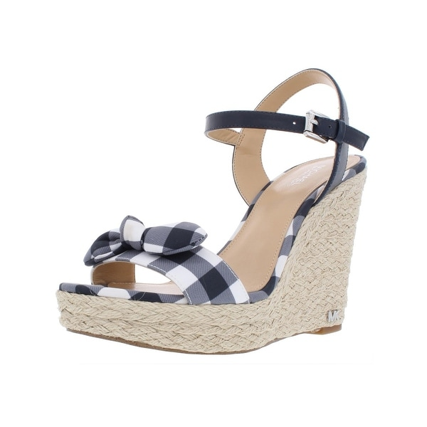 4b3be7dfc7a7 Shop MICHAEL Michael Kors Womens Pippa Wedge Sandals Gingham Ankle ...