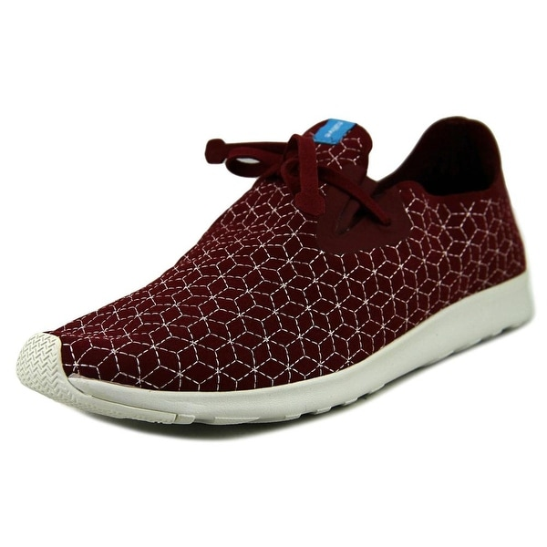 Native Apollo Moc Embroidered Men Round Toe Synthetic Burgundy Sneakers