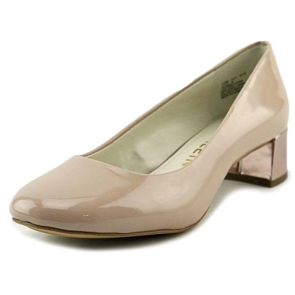 Anne Klein Hallie Women Round Toe Leather Pink Heels