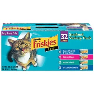 Friskies 45435 32 Count Seafood Variety Cat Food Pack
