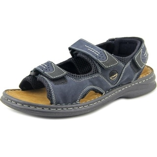 Josef Seibel Raul 01 Men Open-Toe Leather Blue Sport Sandal