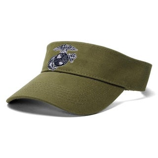 USMC Emblem Olive Adjustable Visor