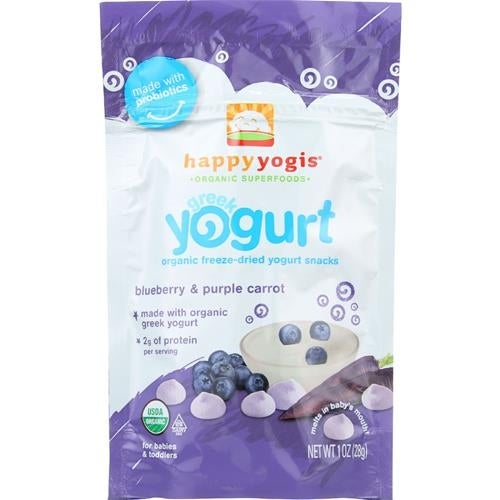 Happy Family - Greek Yogurt Blueberry Carrot Melts ( 8 - 1 OZ)