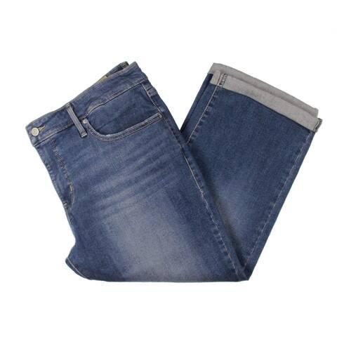 Levi's Womens Plus Capri Jeans Denim Mid-Rise - Blue