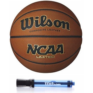 """Wilson NCAA Limited Composite Leather Official Size Basketball (29.5"""") with Pump"""