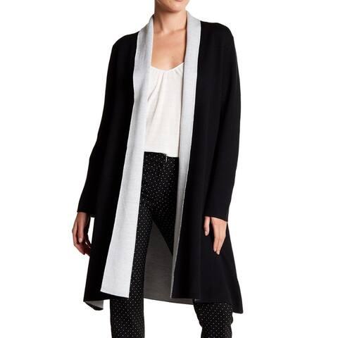 Vertigo Black Women's Size Medium M Double Face Knit Cardigan