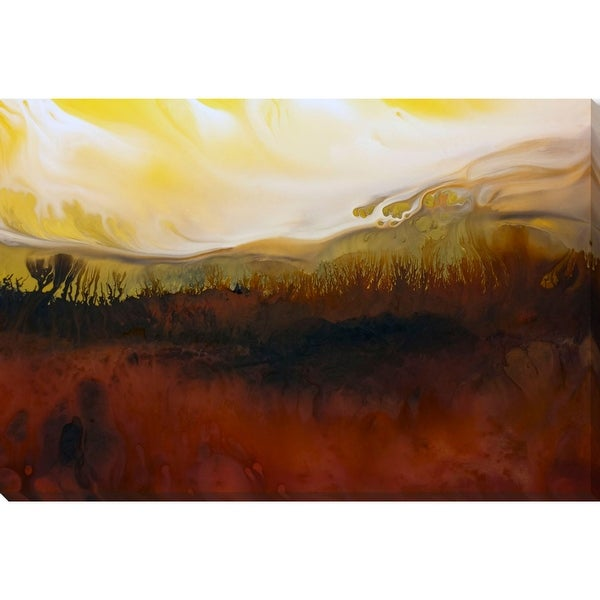 """Cherry Red and Yellow Rectangular Canvas Wall Art Decor 19"""" x 28"""" - N/A"""