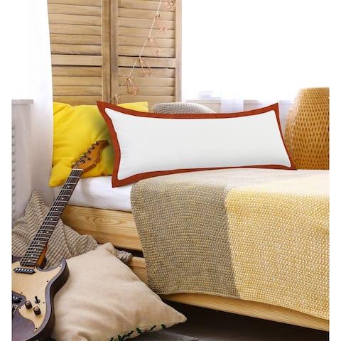 Kassia Empire Bordered Throw Pillow
