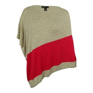 INC International Concepts Women's Colorblock Poncho