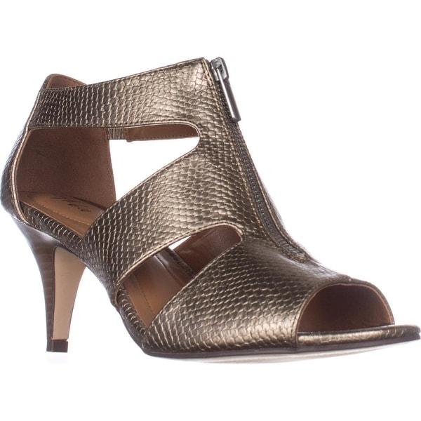 SC35 Halinaa Zip-Up Dress Sandals, Pewter