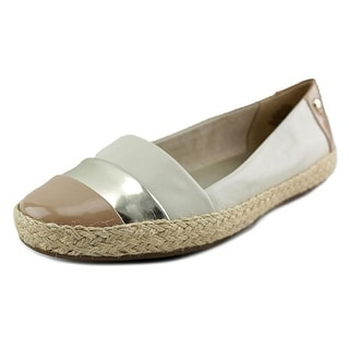 Anne Klein AK Saleem Women Round Toe Leather Ivory Espadrille