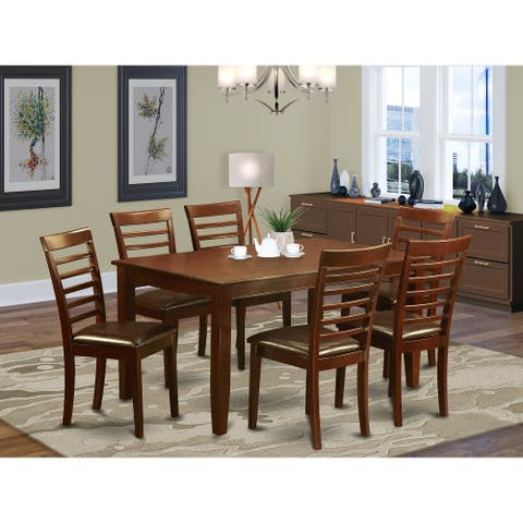 7 PC Dining room set-Dining Table with 6 matching Chairs (Finish Option)